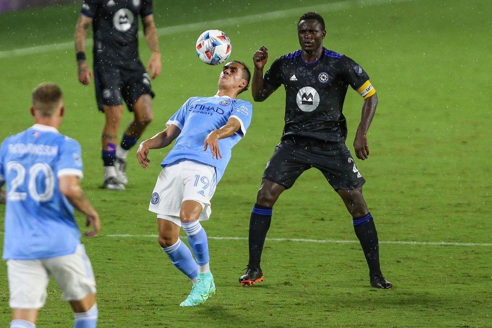 New York City FC forward Jesus Medina (19)