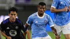 CF Montreal midfielder Joaquin Torres (18) advances the