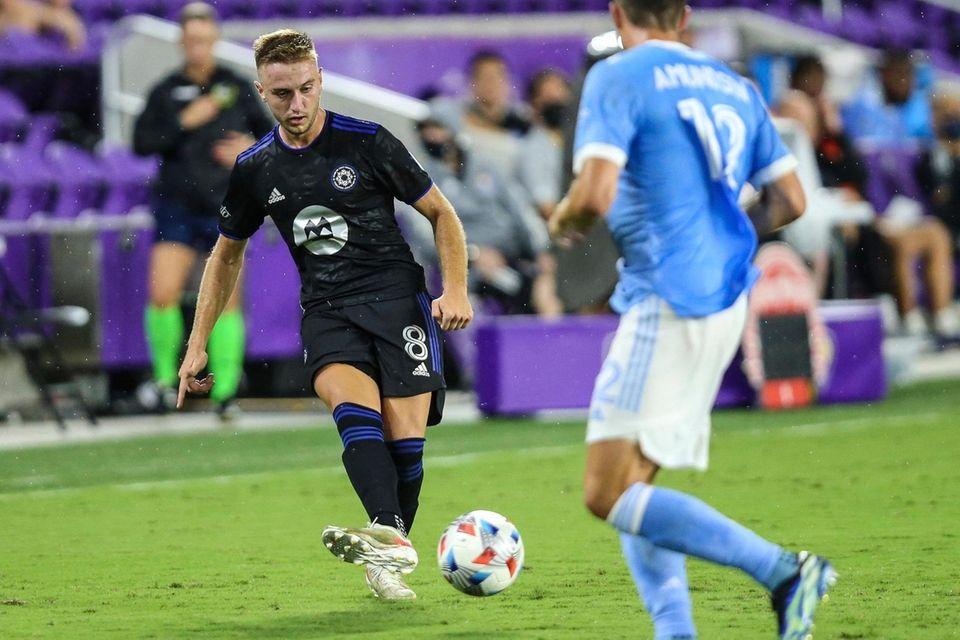 CF Montreal midfielder Djordje Mihailovic (8) advances the