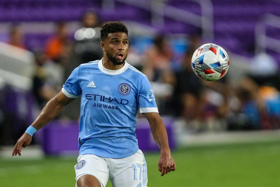 New York City FC midfielder Ismael Tajouri-Shradi (17)