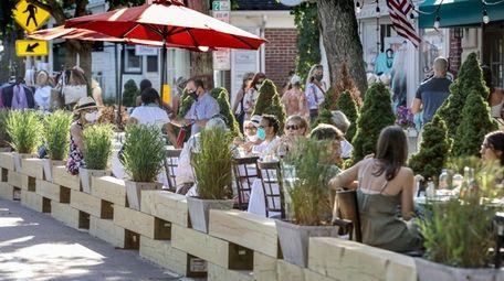 Greenport Village has converted dozens of parking spaces