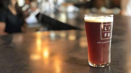A pint of farmhouse ale at Long Island