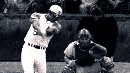 American League All-Star pinch hitter Reggie Jackson, of