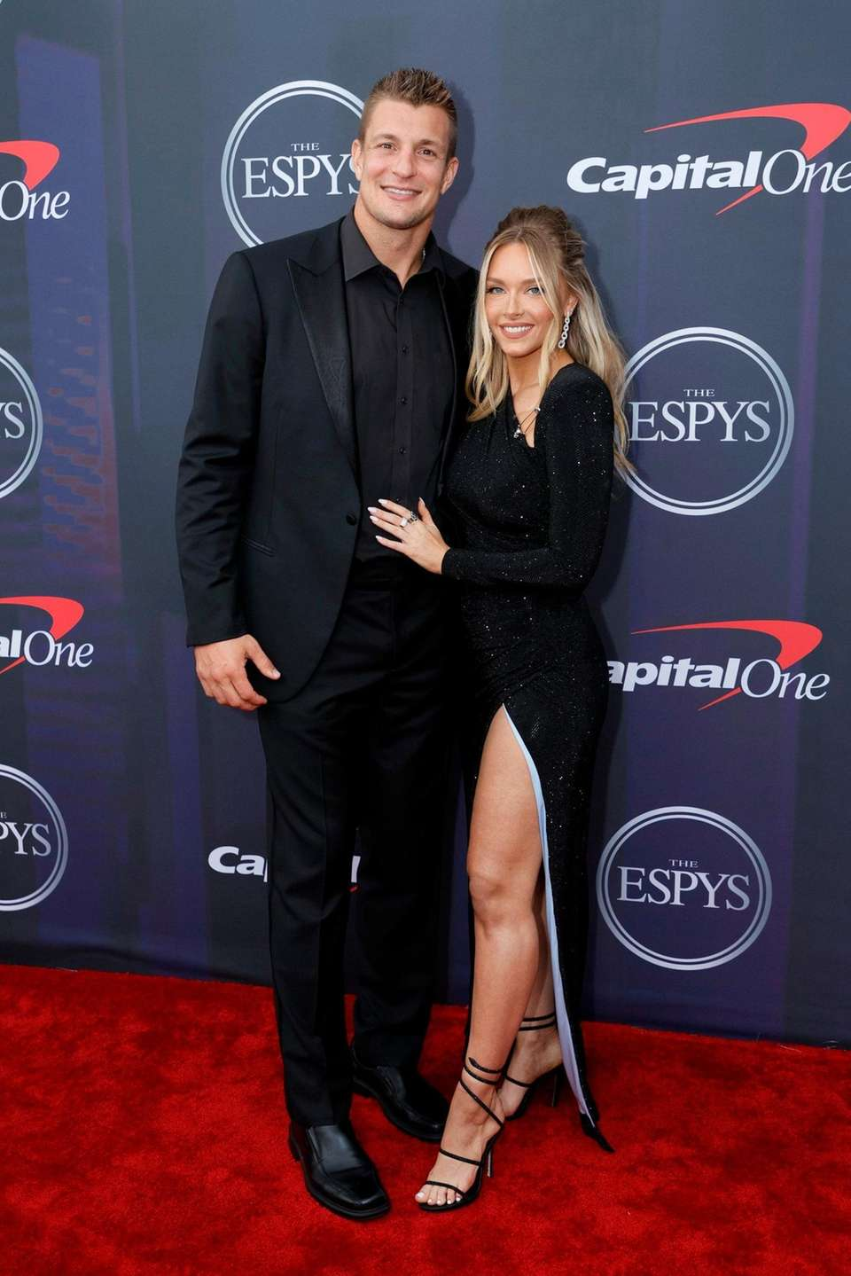 Rob Gronkowski and Camille Kostek attend the 2021
