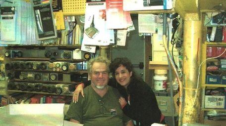 Maralin Merklin-Gray with her father, Dave Merklin, on