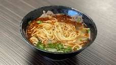 Signature Lanzhou beef noodles at Dun Huang in