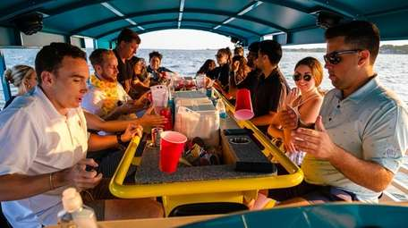 Paddle Pub Long Island is a paddle boat