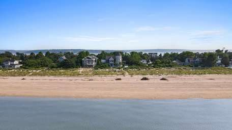 The home has 120 feet of waterfront.