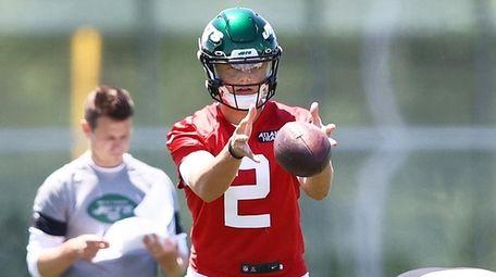 Zach Wilson of the New York Jets runs