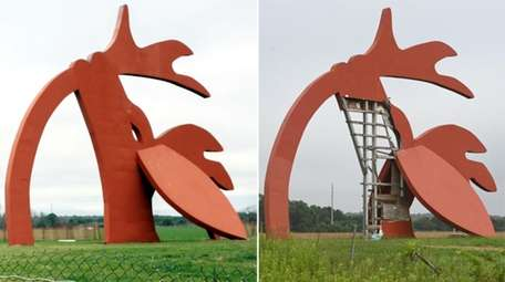 The Stargazer sculpture along County Road 111 in