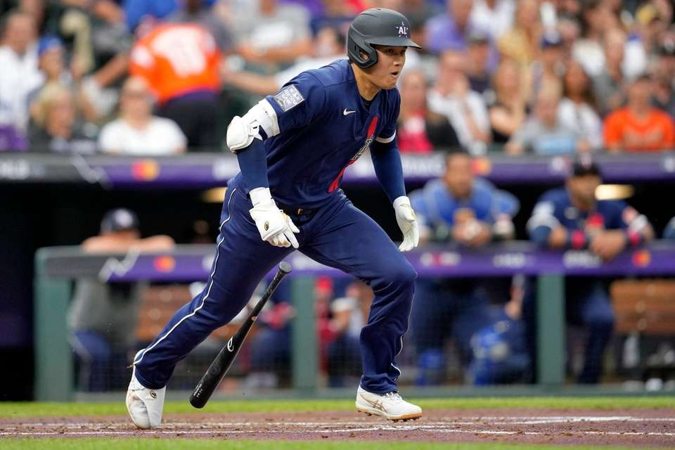 American League's Shohei Ohtani, of the Los Angeles