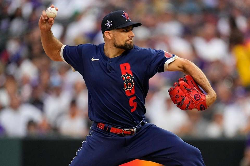 American League's Nathan Eovaldi, of the Boston Red