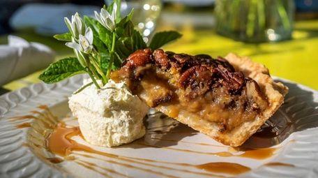 Pecan pie at The Bellport Restaurant.