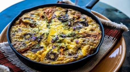 Local organic egg frittata at Copper Beech in