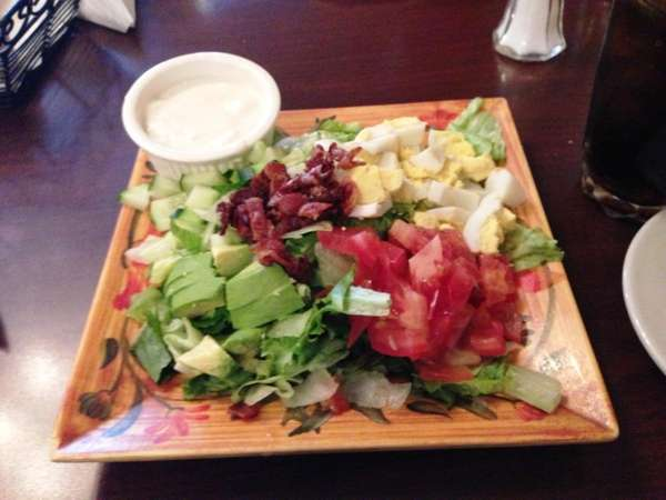 The Cobb salad on the prix-fixe lunch at