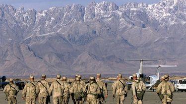 American soldiers, seen at the Bagram Air Base