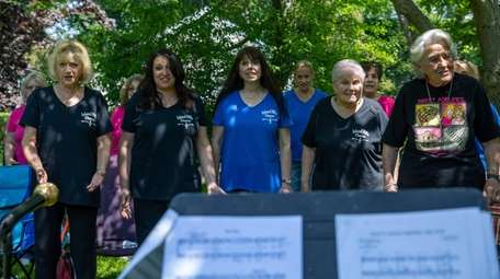 Island Hills Chorus members include, from left in