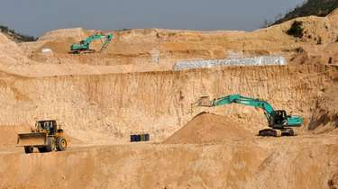 A rare-earth mine in Ganxian county in central