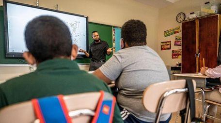 Summer school is underway in Amityville, where Nakia
