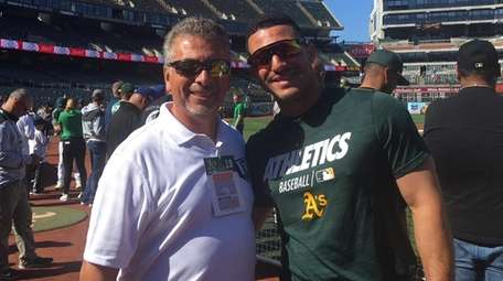 Oakland A's outfielder Ramon Laureano, who attended high