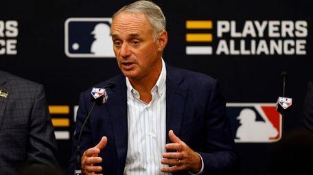 Baseball commissioner Rob Manfred said in Denver during