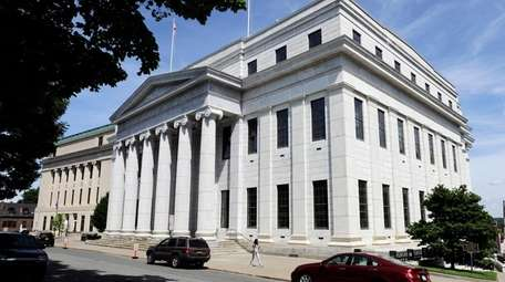 An exterior view of the New York Court