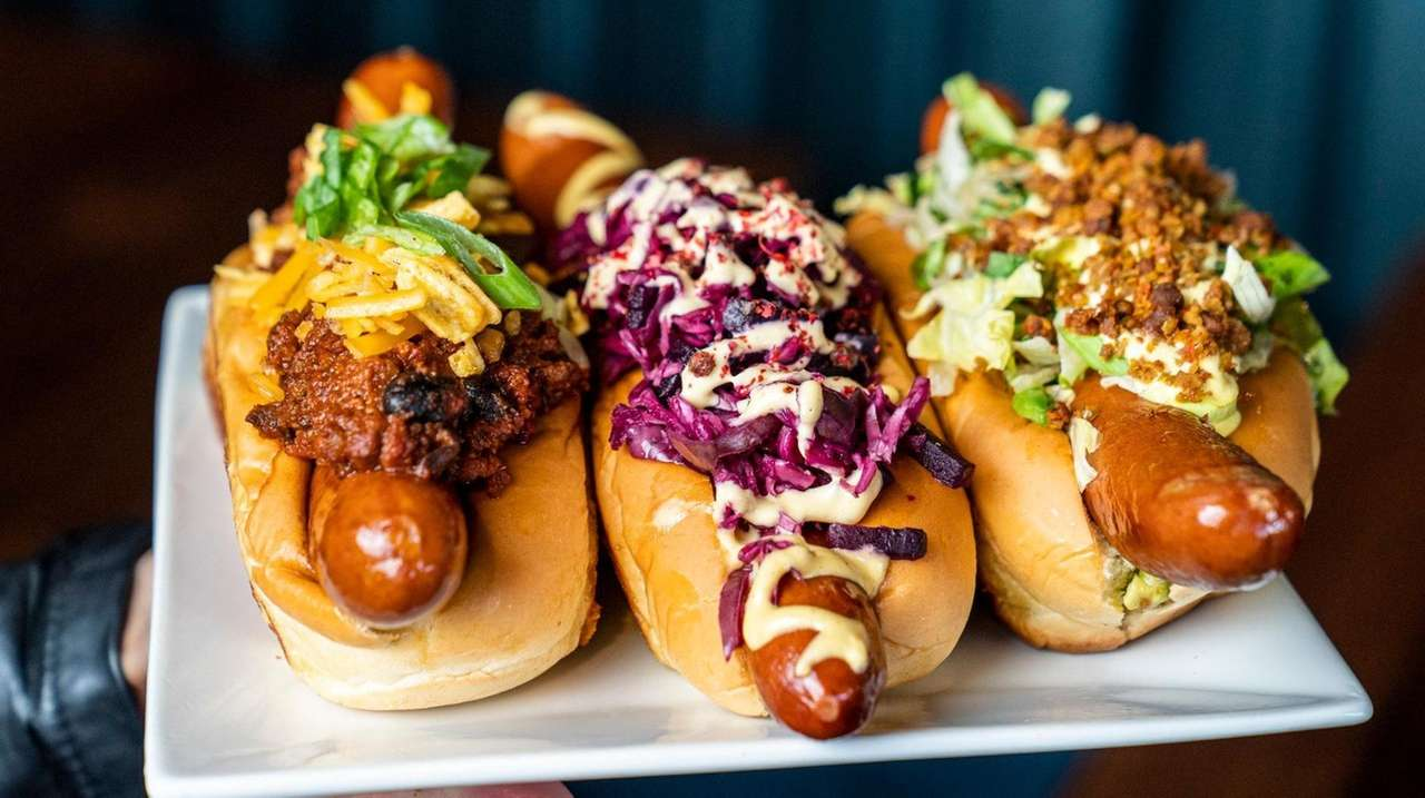 The Bay Shore eatery Rock City Dogs serves