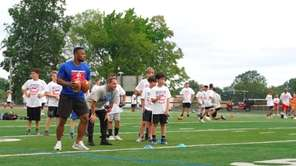 Giants running back Saquon Barkley, while appearing at
