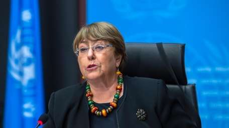Michelle Bachelet, the UN high commissioner for human
