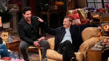 David Schwimmer, left, and Matthew Perry in a