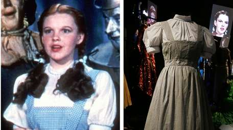 One of several gingham dresses for Judy Garland's