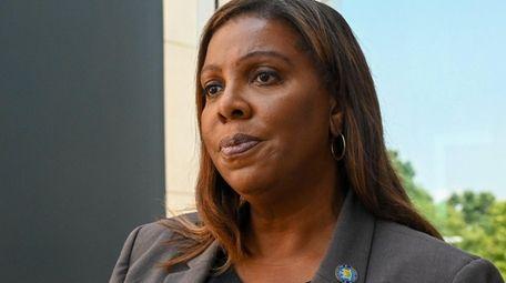 New York State Attorney General Letitia James speaks