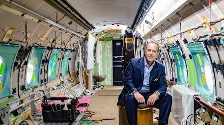 International Jet Interiors President Eric H. Roth inside