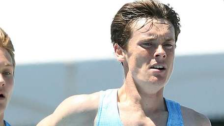 Northport's Mike Brannigan gets a personal best time
