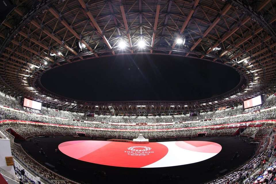 A general view prior to the Opening Ceremony