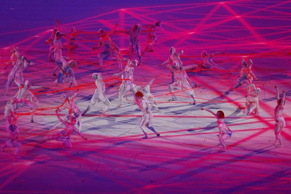 Performers dance during the Opening Ceremony of the