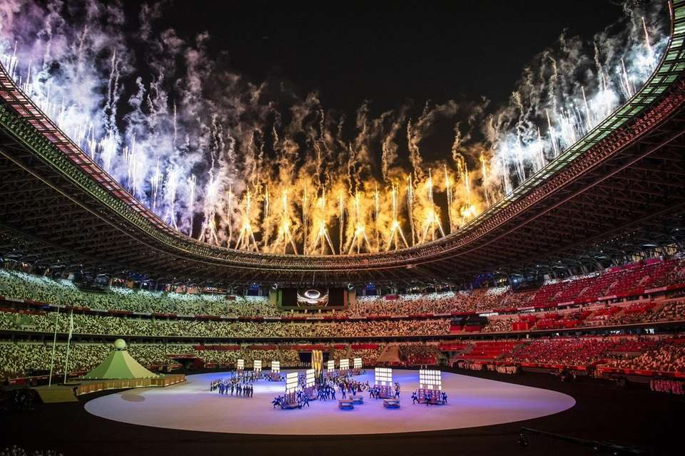 A general view during the opening ceremony of