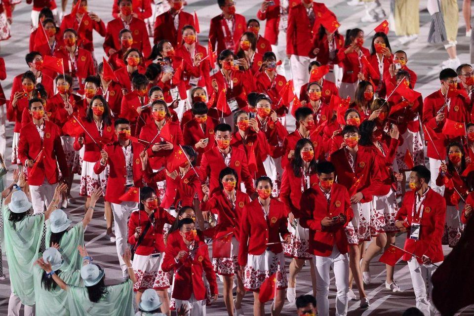 TOKYO, JAPAN - JULY 23: Members of Team