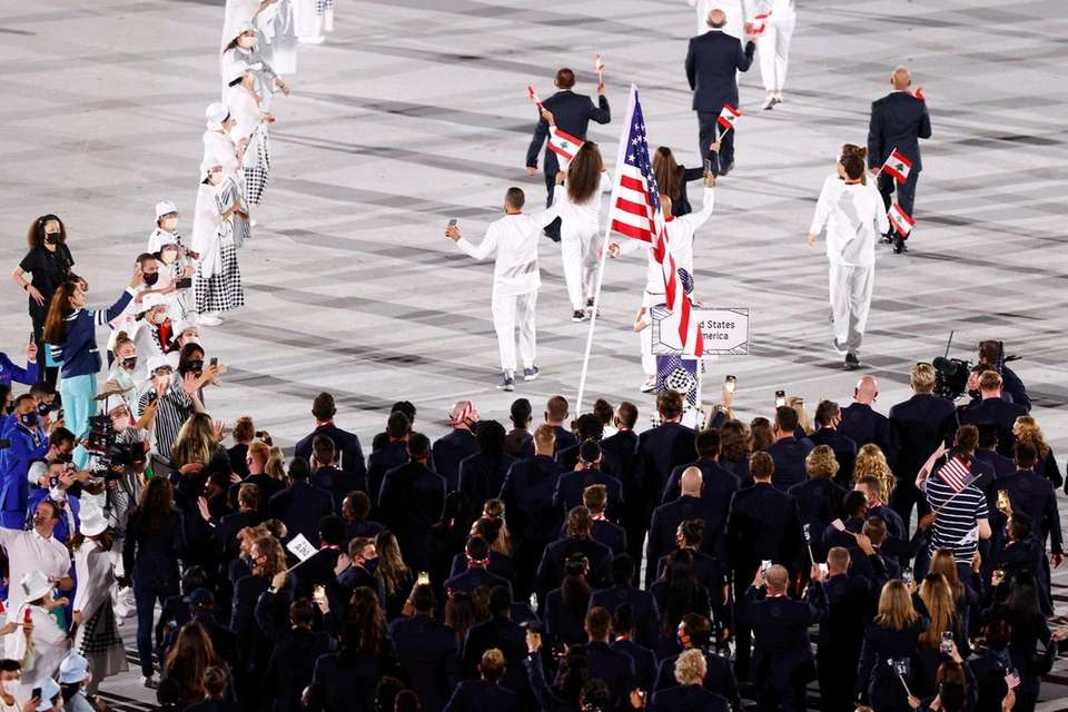 Team USA during the Opening Ceremony of the