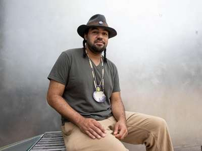 Artist Tecumseh Ceaser has collaborated with Jeremy Dennis