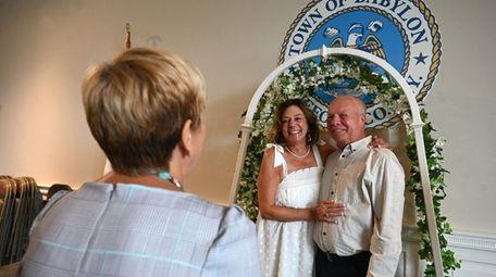 Elizabeth Accordino married Dennis McCall, both of Copiague,