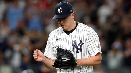 Chad Green of the Yankees pitches during the