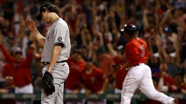 BOSTON, MA - JULY 23: Pitcher Gerrit Cole