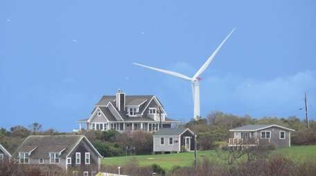 A view of wind turbines from Block Island,