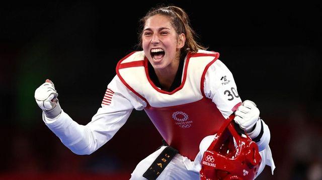 Anastasija Zolotic of Team United States celebrates after