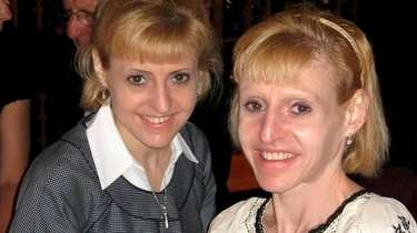 Jeanne Peterson, right, with her twin sister, Karen