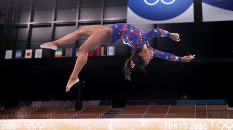 Simone Biles of Team United States competes on