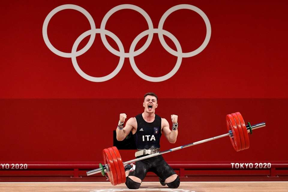 Mirko Zanni of Team Italy competes during the