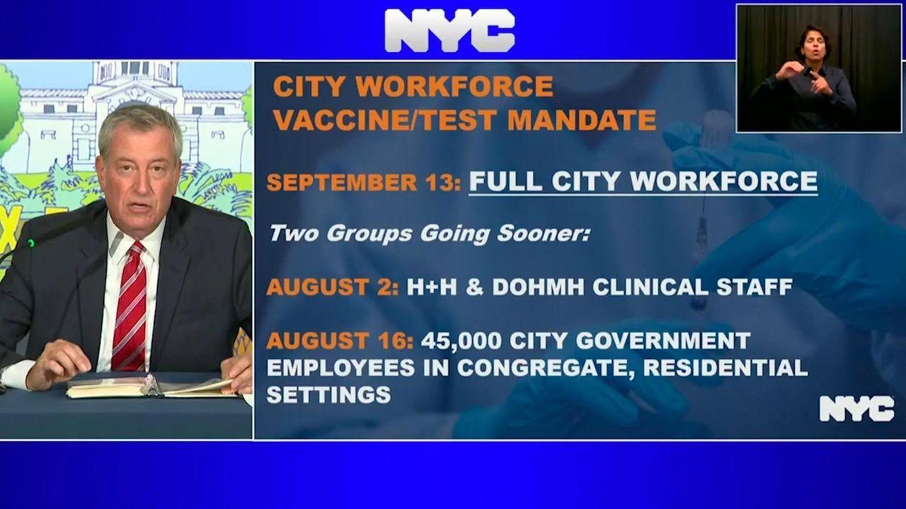 Mayor Bill de Blasio announced Monday that all