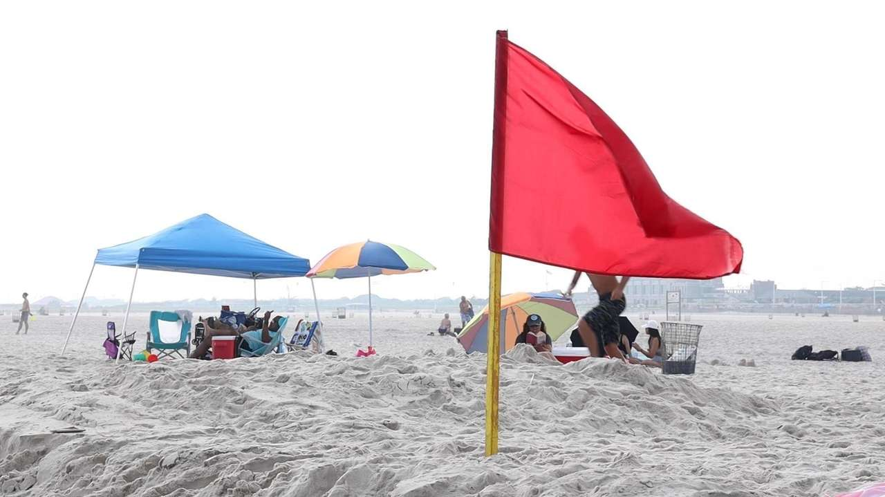 Swimming was temporarily suspended Monday and a state